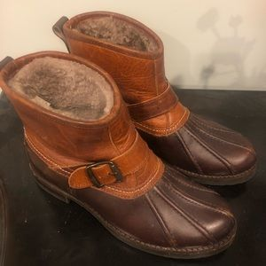 Frye short leather work boot